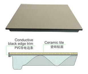 瓷砖面全钢防静电地板